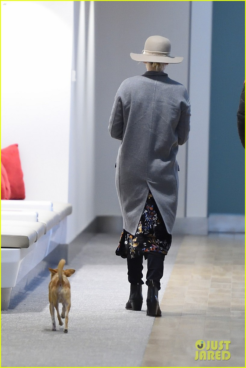 jennifer lawrence and her pup pippi catch a flight at jfk 02
