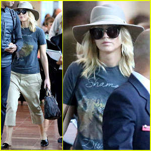 Jennifer Lawrence Shows Off Her Airport Style Ahead of Paris Fashion Week
