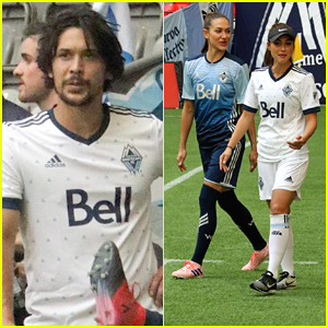 The 100's Lindsey Morgan & Bob Morley Show Off Soccer Skills In Children's Hospital Charity Soccer Match