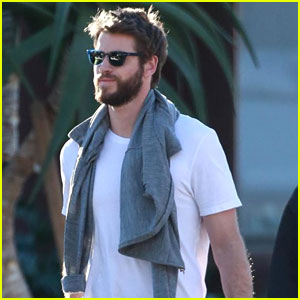 Liam Hemsworth is All Smiles While Out Christmas Shopping