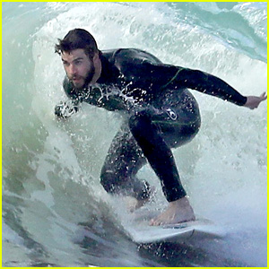 Liam Hemsworth Shows Off His Skills While Surfing in Malibu!
