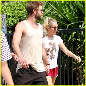 Miley Cyrus & Liam Hemsworth Look So Cute Together in Australia!