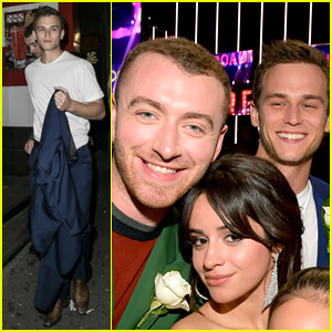 Sam Smith & Brandon Flynn Attend Grammys 2018 Together!